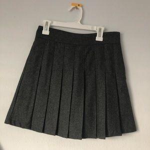 Gray schoolgirl skirt